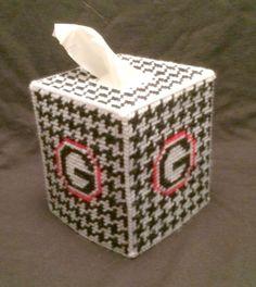 University of GA Tissue Cover handmade Boutique canvas  | eBay