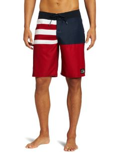 Quiksilver Men's Stars And Stripes Boardshort, Cardinal Red, 33