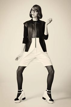 Cutler and Gross 0956 optical frames in @Paper Magazine .... we love the black and white outfit by @AlexanderWangNY    SHOP: http://www.cutlerandgross.com/shop/Opticals/0956-Black/