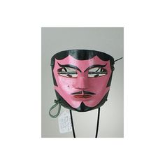 Painted Tejorones male dance mask, Oaxaca, Mexico ❤ liked on Polyvore