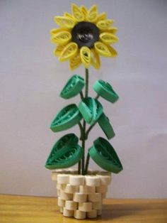 3D Sunflower - Quilled Creations Quilling Gallery