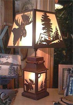 Moose Silhouette Lamp