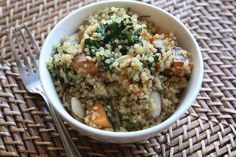 Gluten Free Thanksgiving Side Dishes: Warm Quinoa Salad with Roasted Sweet Potatoes and Sage