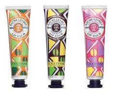 l'occitane colorful packaging. always stylish, yet traditional.