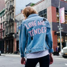 "Love me tender. Love me sweet. Rock this cute denim jacket with our Boo You Whore Sunglasses! - 100% Cotton - 43cm/17"" Chest, 57cm/22.4"" Length (Size Small) - Color may vary slightly from the image -"
