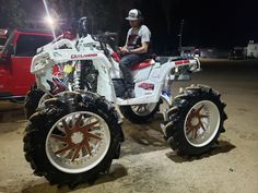 When redneck gets fancy Used 4 Wheelers, Four Wheelers For Sale, Atv Four Wheelers, Racing Motorcycles, Motorcycle Touring, Girl Motorcycle, Motorcycle Quotes, Custom Motorcycles, Can Am Atv