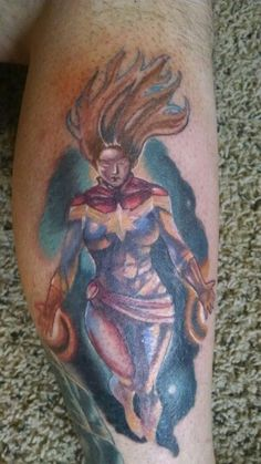 Captain Marvel tattoo
