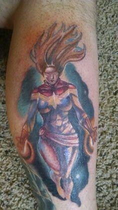 Captain Marvel tattoo