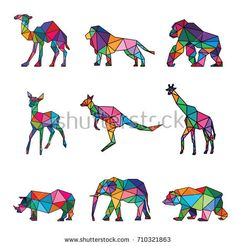 Find Zoo Animal Low Poly Logo Icon stock images in HD and millions of other royalty-free stock photos, illustrations and vectors in the Shutterstock collection. Gorilla Tattoo, Low Poly Art, Animal Art, Geometric Art Animal, Geometric Animals, Drawings, Geometric Drawing, Indian Folk Art, Art