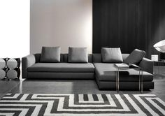 Minotti Deep Grey Sofa (I've ordered a Charcoal Minotti Hamilton but can't find a photo of it online!)