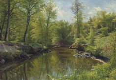 Peder Mørk Mønsted (Danish, 1859-1941) Rowing on a River in Summer, 1922 oil on canvas 27½ x 39¾ in.