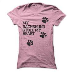 My Dachshund Stole My Heart - #crewneck sweatshirts #mens t shirts. ORDER NOW => https://www.sunfrog.com/Pets/My-Dachshund-Stole-My-Heart.html?60505