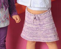 Описание вязания на спицах расклешенной юбки на завязке из журнала «Verena. Специальный выпуск» №4/2013.