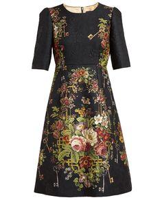 DOLCE & GABBANA | Brocade Floral Dress