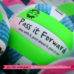 Pass it Forward is an interactive program designed to help spread the joy of sport and play! Join the movement! Visit - http://moltenusa.com/passitforward