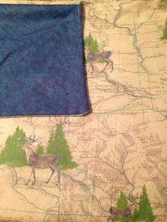 Large Receiving Baby Blanket, Deer in the Woods, Blue Flannel, Baby Swaddling Blanket, Baby Shower Gift on Etsy, $16.50