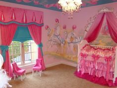 omg what a fabulous princess dream bedroom love it! Madison's fav so far, minus the crib!