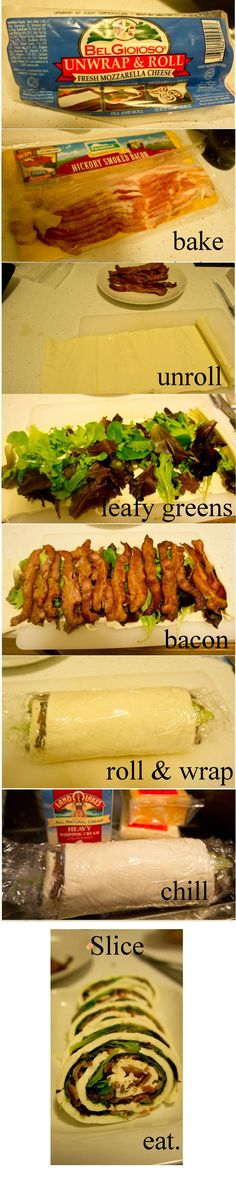 Keto mozzarella bacon roll (will have to choose ingredients wisely)