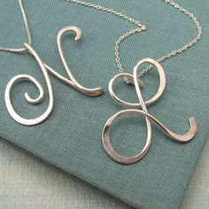 initial pendant - wire