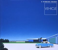 """Vehicle"", Oil on Canvas, Illustration by Hiroshi Nagai (b. 1947, Japan) - '80s."