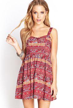 Paisley Print Sun Dress | FOREVER21 - 2000104970