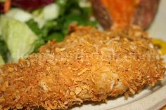 Moist and Tender Crispy Oven Fried Buttermilk Chicken - coated with cornflakes crumbs and parmesan cheese - #Mary @Deep South Dish