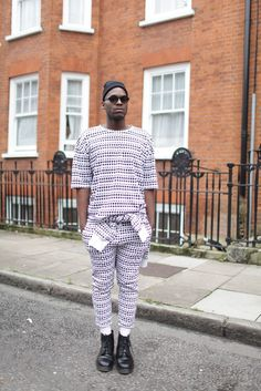 London Fashion street style. [Photo by Kuba Dabrowski]
