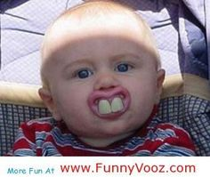 awesome Funny baby teeth - hilarious photos people- i want to get one for the baby @ stella
