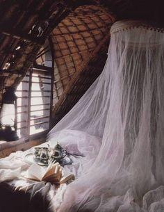 My Bohemian Home ~ Bedrooms and Guest Rooms. Wish this was my room Dream Bedroom, Home Bedroom, Bedroom Decor, Gypsy Bedroom, Fairy Bedroom, Bedroom Setup, Bedroom Nook, Light Bedroom, Attic Bedrooms