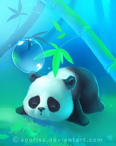 Kawaii Anime Wallpaper For Laptop Anime Panda, Kawaii Anime, Niedlicher Panda, Panda Art, Panda Love, Panda Wallpapers, Cute Wallpapers, Wallpaper Wallpapers, Cute Animal Drawings