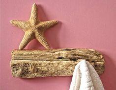 driftwood wall rack - great idea