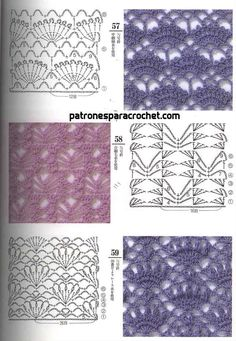 If you looking for a great border for either your crochet or knitting project, check this interesting pattern out. When you see the tutorial you will see that you will use both the knitting needle and crochet hook to work on the the wavy border. Crochet Motifs, Crochet Borders, Crochet Diagram, Crochet Stitches Patterns, Crochet Chart, Crochet Squares, Love Crochet, Knitting Stitches, Crochet Designs