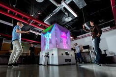 Introducing the Cube: Microsoft's interactive art installation, unveiled this week at Seattle's Decibel Festival, a celebration of electronic music, visual art and new media.