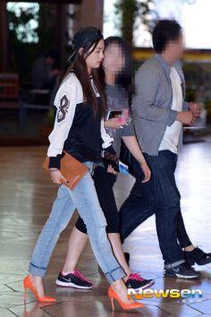 after school nana kpop airport fashion orange caramel