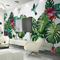 home decor wallpaper Wall Painting Decor, Mural Wall Art, Home Wall Art, Wall Art Designs, Wall Design, Living Room Murals, Wall Drawing, Home Wallpaper, Interior Design Living Room