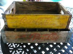 CocaCola Crate/Vintage Wooden Crate/Retro by Happiness2day on Etsy, $39.99