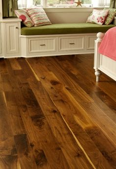 Dark Wood Flooring and Walnut Hardwood Flooring from Carlisle Wide Plank Floors Modern Wood Floors, Living Room Hardwood Floors, Walnut Hardwood Flooring, Types Of Wood Flooring, Oak Laminate Flooring, Light Hardwood Floors, Wide Plank Flooring, Flooring Ideas, Dark Hardwood