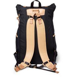 Master-Piece Surpass Leather-Trimmed Canvas Backpack | MR PORTER
