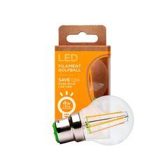 Envirolight Filament 4W Warm White Non-Dimmable B22 LED Golf Ball Bulb
