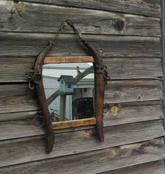 Rustic horse hames mirror by wooddesignsby on Etsy, $110.00