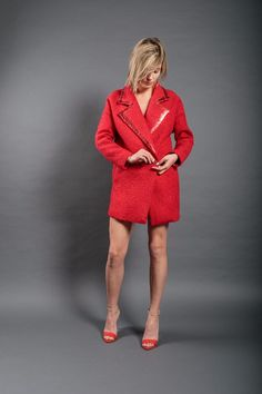 Dip Dye, Wool, Fabric, Sweaters, Red, Jackets, Clothes, Collection, Dresses
