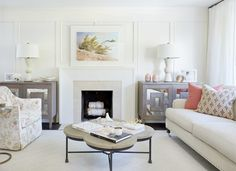 See how designer Erin Feasby creates a modern classic space that& built to withstand wear and tear. Decorating Small Spaces, Interior Decorating, Interior Design, Decorating Ideas, Decor Ideas, Bright Pillows, Home Staging Tips, Classic Home Decor, Dining Table Chairs