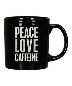 'Peace Love Caffeine' Mug