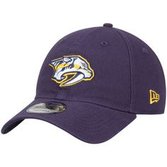 Men s New Era Navy Nashville Predators Core Shore 9TWENTY Adjustable Hat 3cda18e1b433