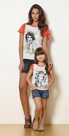 t-shirts look tal mãe tal filha....mom and me