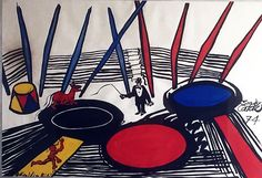 Alexander Calder, Circus, gouache and ink on paper…'74