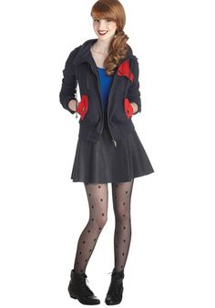 Leipzig Hoodie in Navy and Red, #ModCloth