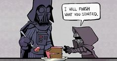 """By Brian Kesinger Star Wars Calvin and Hobbes """"I will finish what you started"""" Darth Vader and Little Kylo Ren Star Wars Rebels, Star Wars Meme, Star Trek, Star Wars Dark, Star Wars Witze, Star Wars Film, Funny Star Wars, Calvin Und Hobbes, Darth Vader"""
