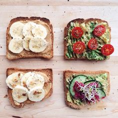 bpdplace:  gigieatsvegan:  Sunday morning breakfast for two. Sweet and savory toast!  snack