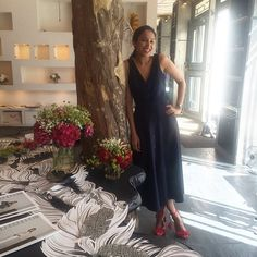 Designer Saloni Lodha x We love the  in our showroom in #paris  wearing zoey dress from #resort16